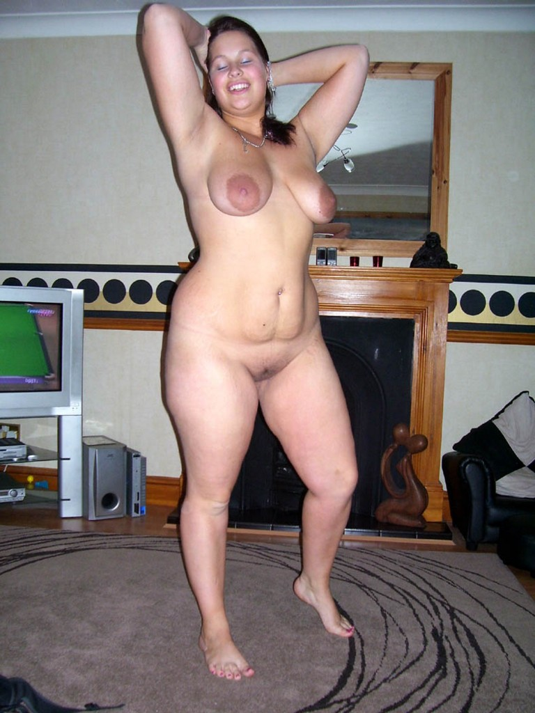 Bare nude naked lady from front