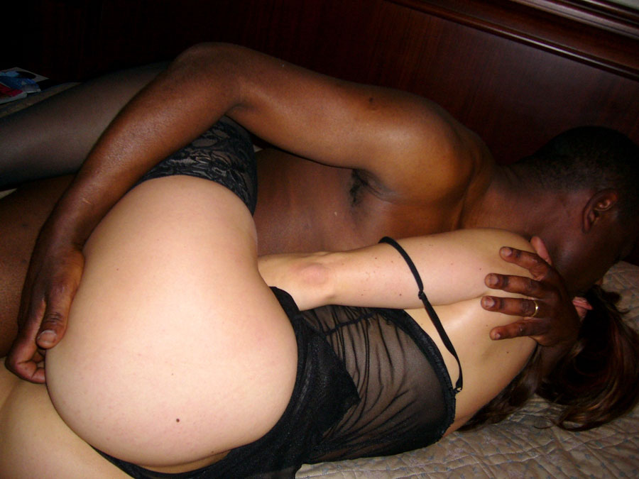 My horny wifes first black amateur